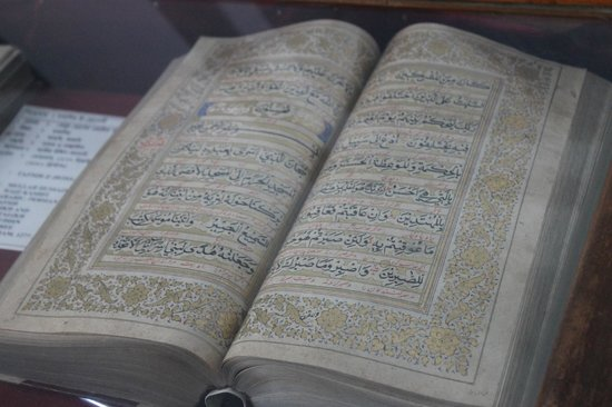 Lalbag Fort : Copy of Koran in the museum