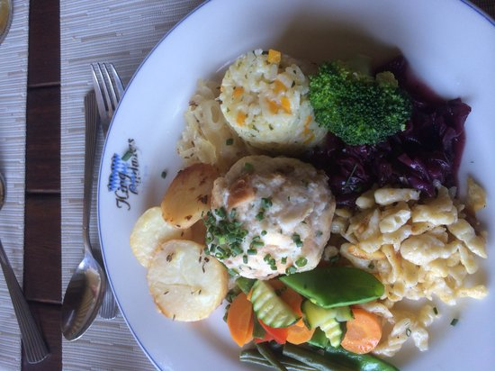 King Ludwigs Maleny Views Restaurant : My Vegetarian German meal- excellent