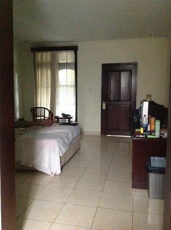 Champlung Mas Hotel : bedroom to outside door