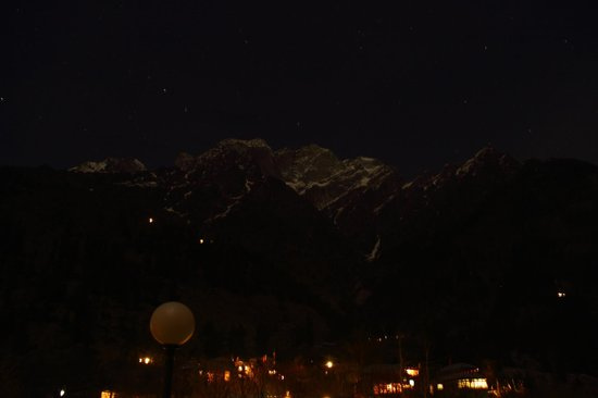 Baikunth Adventure Camp: Night view of Kinner Kailash from the backside