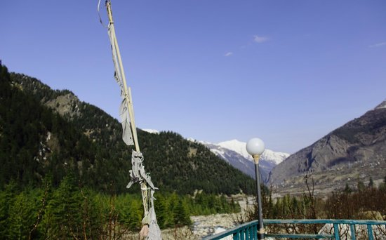Baikunth Adventure Camp: View of Sangla Valley from BRC