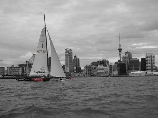 Explore - America's Cup Sail Auckland : Boat and Tower