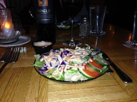 Bridgewater Ocean Fresh Fish House and Zebra Bar: Salad provided with entree