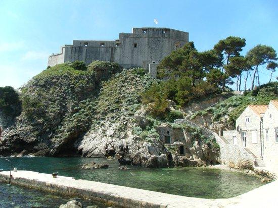 Fort Lovrijenac: これから上ります~