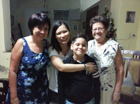 Casa Ileana: Ileana, and grandmum and her eldest grandson