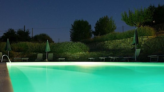 Torre di Ponzano - Chianti area - Tuscany -: The pool at night