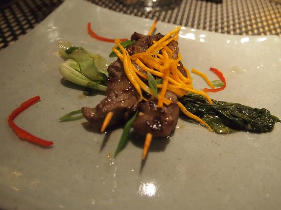 The Square 24: Marinated beef skewers