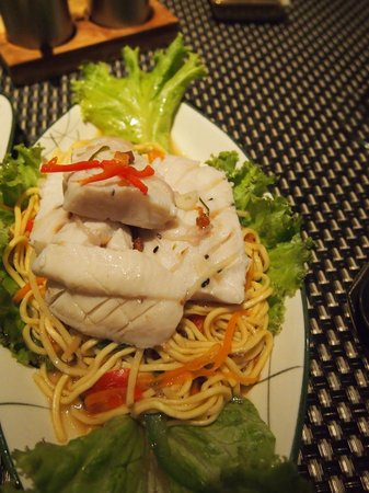 The Square 24: Lake fish over noodles