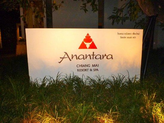 Anantara Chiang Mai Resort : Entrance sign