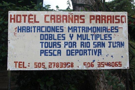 Cabanas Paraiso : Entrée de l'hôtel