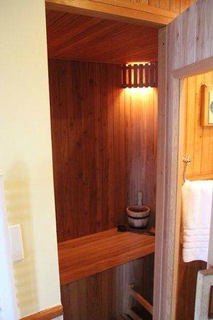 Charming Luxury Lodge & Private Spa: sauna in room