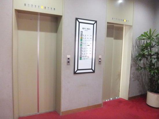Hotel Sawakaze: エレベーター(右側はシースルー)