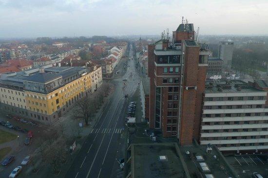 Amberton Klaipeda : View from hallway on 13th floor