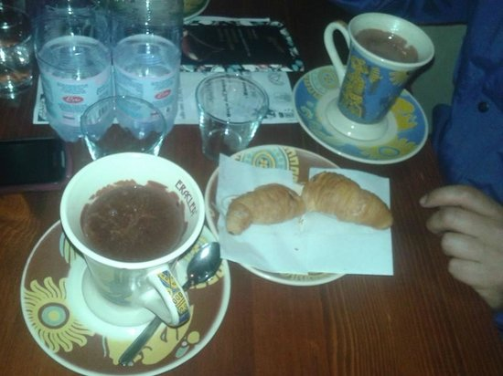 Cioccolata calda e code di aragosta