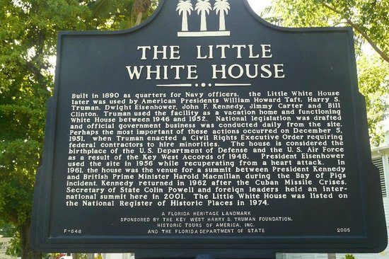 Harry S. Truman Little White House : Information sign about the Little White House