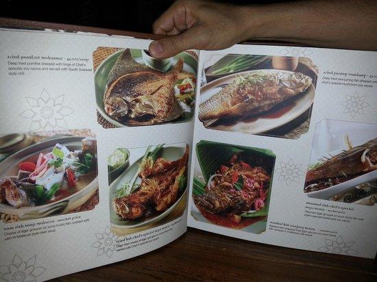 Seribu Rasa: a page of menu