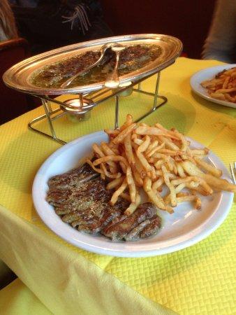 L'Entrecôte : El plato