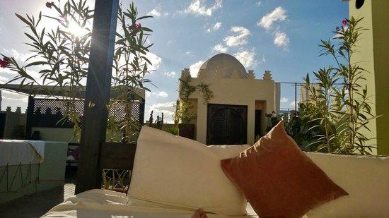 Riad des Arts : Le super matelas de la terrasse