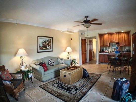 St. George Inn: Castillo living room with sofa bed