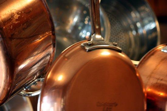 de Burgh's Bistro @ Hotel d'Urville: Copper Pans