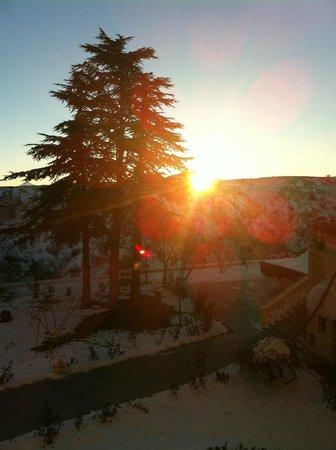 Uchisar Kaya Hotel: Vista del amanecer