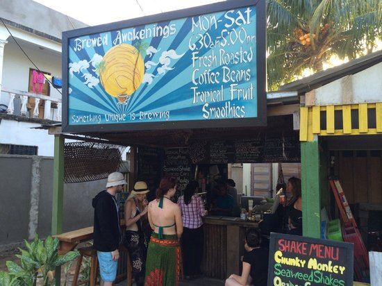 Brewed Awakenings : Fantastic seaweed shakes for everyone after diving.