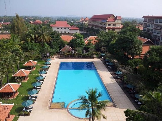 Royal Angkor Resort & Spa: View from Presidential Suite... Deluxe Pool View with Balcony has similar view!