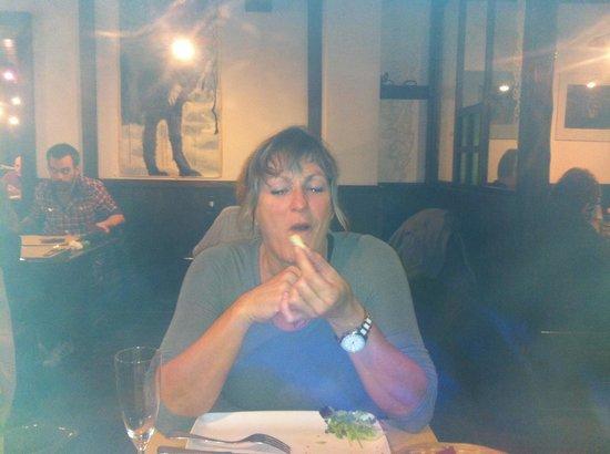 Osteria del Lupo Nero : Patricia really enjoy the tartar dish