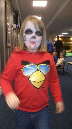 Limerick Racecourse: Scary face paints