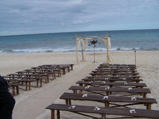 Rosewood Mayakoba: Destination wedding on beach...