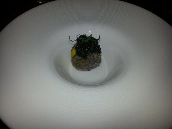 wd~50: SAFFRON-COCONUT ICE CREAM, CAVIAR, POPPY SEED