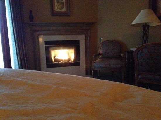 The Herrington Inn & Spa: Fireplace in the morning