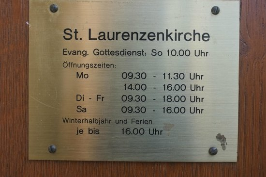 St. Laurenzen: Öffnungszeiten