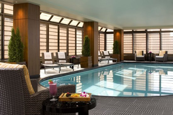 The Peninsula Spa: Glass-enclosed Swimming Pool