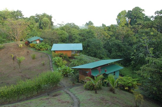 Finca Maresia: View from the deck of full cabins