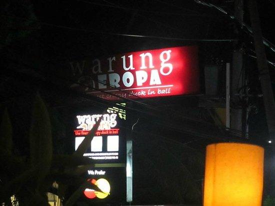 Warung Eropa: The Sign