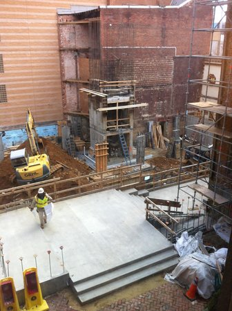Morrison-Clark Historic Inn & Restaurant: construction for the new central courtyard