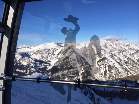 Jackson Hole Mountain Resort: View from the Tram on a bluebird day was a treat in itself.