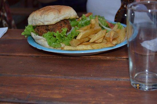 Cafe Zambezi: One of the delicious burgers