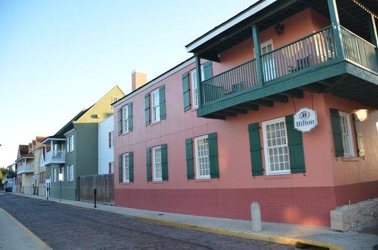 Hilton St. Augustine Historic Bayfront : Rear of Hotel.
