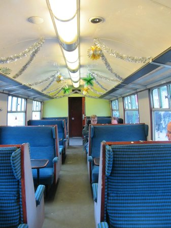 Swanage Railway: Inside steam train