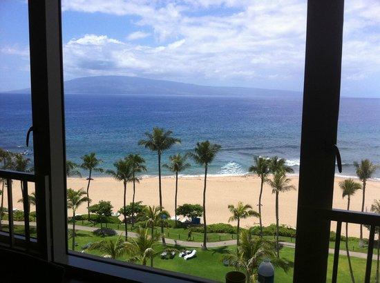Marriott's Maui Ocean Club  - Lahaina & Napili Towers : Island of Lanai seen from villa