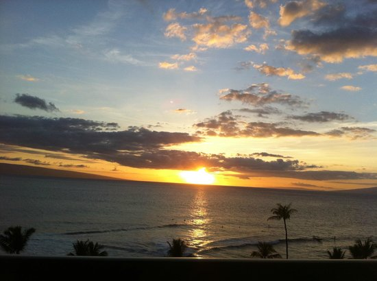 Marriott's Maui Ocean Club  - Lahaina & Napili Towers : Another perfect sunset from our villa