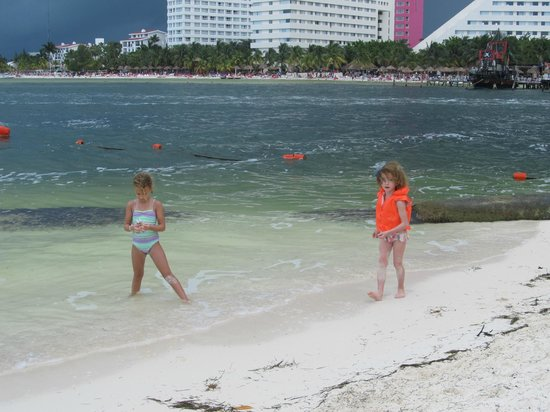 Occidental Costa Cancun: The beach was always immaculate and a nice size