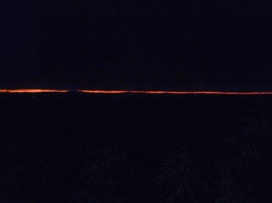 Vandrarhem Safsen: zons ondergang (16.00 uur)