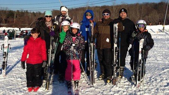 Family (cousins) enjoying a fun day @ Ski Ward