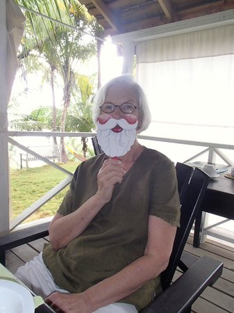 Sea-U Guest House: Christmas morning, Mrs. Santa
