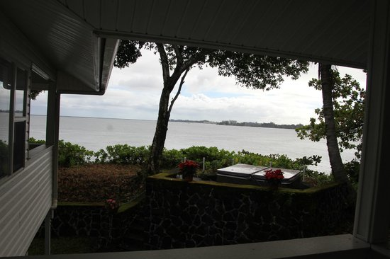 The Bay House : View out our lanai.