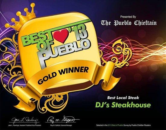 Photo of American Restaurant DJ's Steak House at 4289 N Elizabeth St, Pueblo, CO 81008, United States