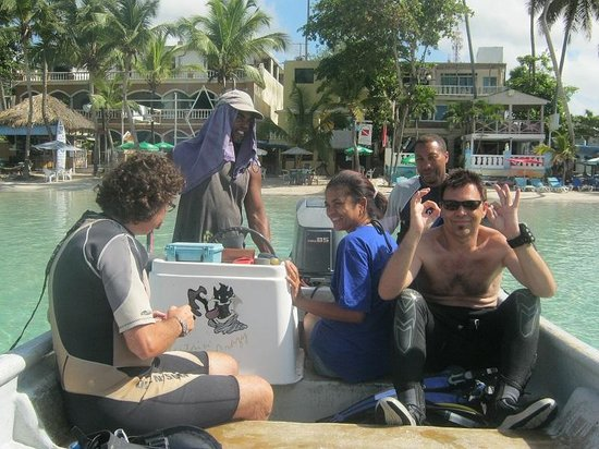 Caribbean Divers : Sapß beim Tauchen